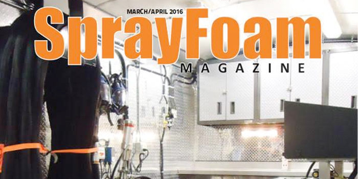 Spray Foam Magazine Discusses Spray Rigs in their 2016 MarchApril Issue