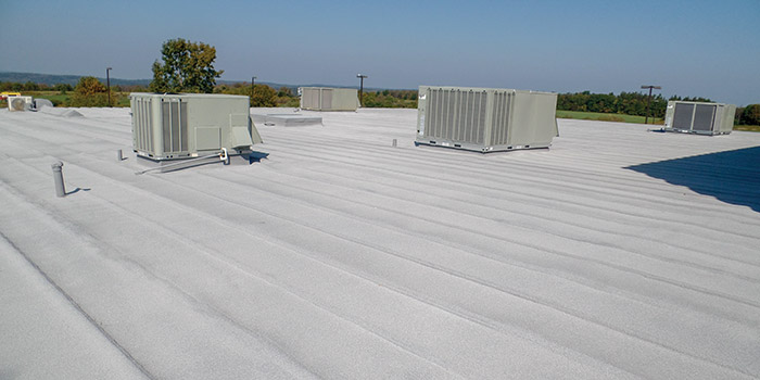 Finished Spray Foam Roofing System