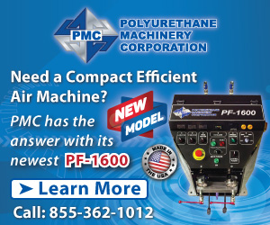 PF-1600 is a pneumatic-drive proportioner Polyurethane Machinery Corporation (PMC)