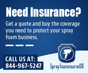 General Liability Insurance for spray foam insulation, slab jacking, and roofing companies