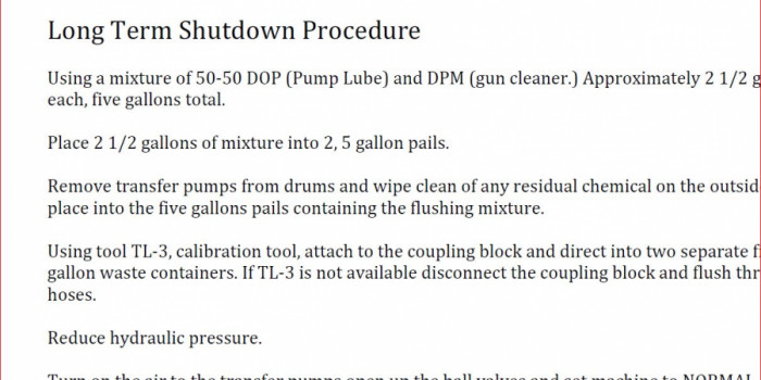 Short-Term and Long-Term Proportioner Shutdown Guide