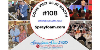 Come to SprayFoam.com Booth #108 at Sprayfoam Show 2020!