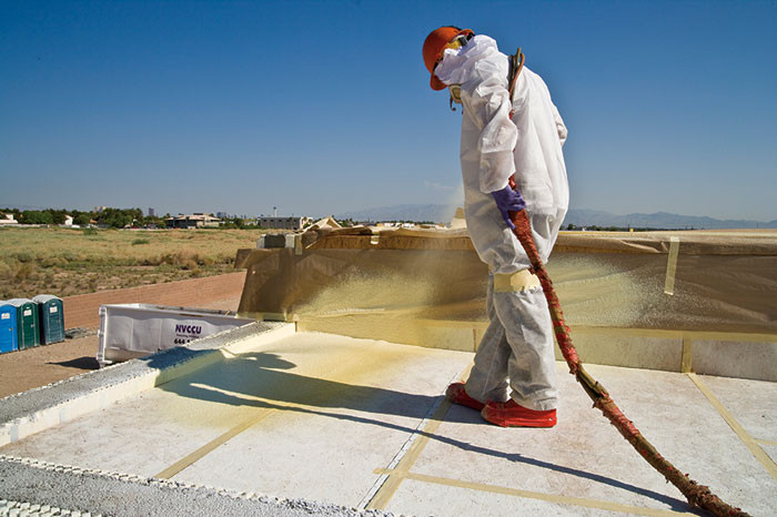 huntsman building solutions roofing foam application