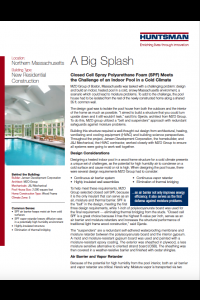 A Big Splash: Closed Cell SPF Meets the Challenge of an Indoor Pool in a Cold Climate