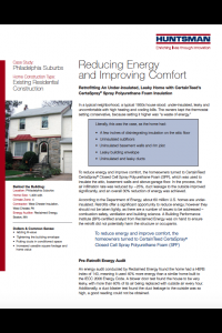 Reducing Energy and Improving Comfort by Huntsman