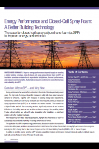 Energy Performance and Closed-Cell Spray Foam: A Better Building Technology
