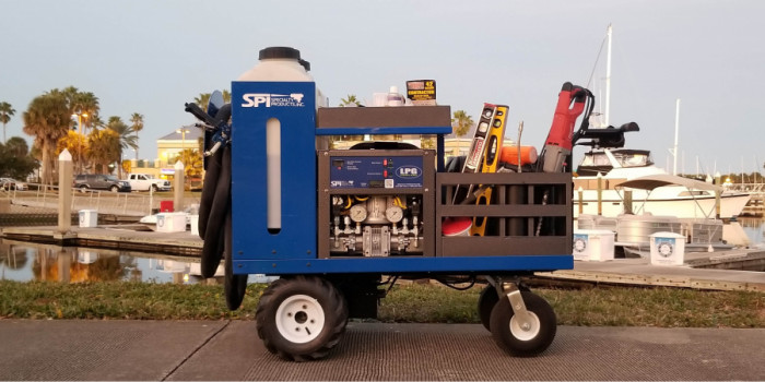 SPI's LPG Electrically-Driven Concrete Lifting Cart
