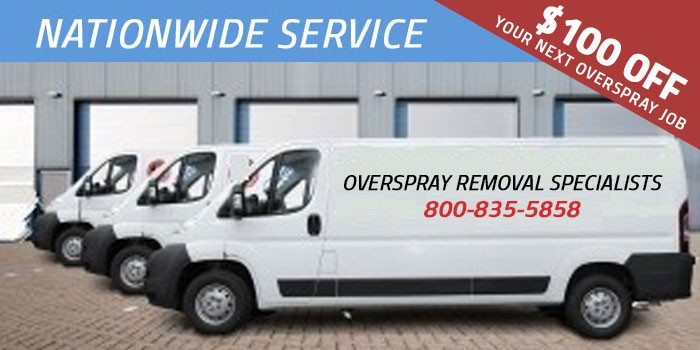 Overspray Removal Services - Overspray Removal Specialists
