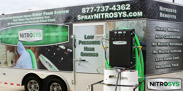 NiTROSYS Low Pressure Refillable Spray Foam System