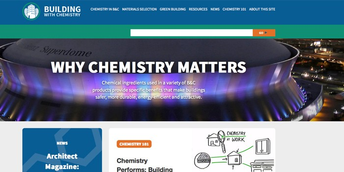 American Chemistry Council Launches Website Highlighting Chemistry in Building and Construction Materials