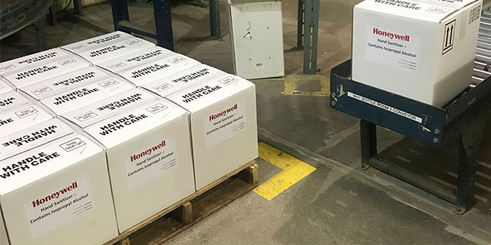 Honeywell Plants Have Pivoted to Hand Sanitizer