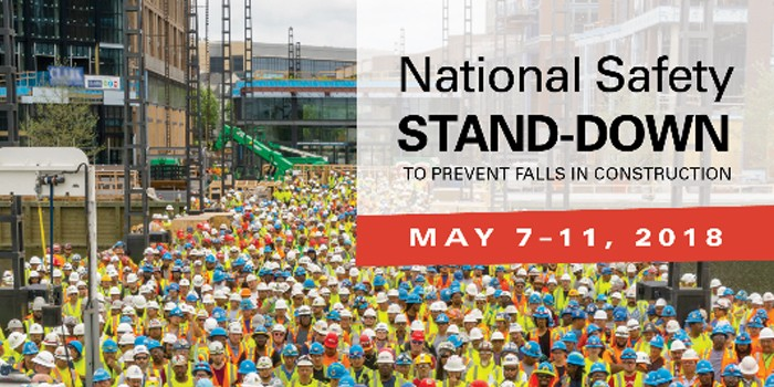 5th Annual National Safety Stand-Down to Prevent Falls Begins May 7