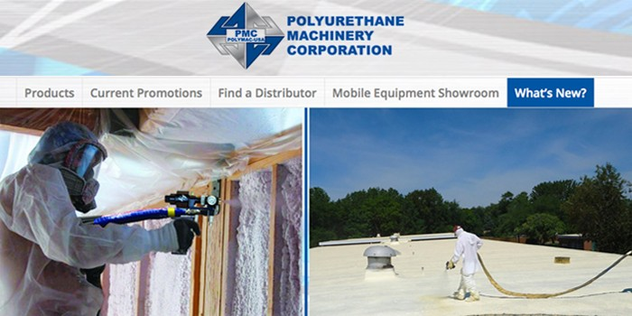 Spray Foam Equipment Manufacturer PMC Gets a New Look