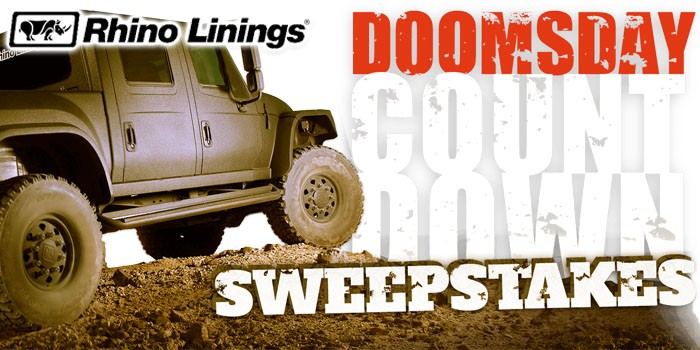 Spray Foam Manufacturer Rhino Linings Launches Interactive Doomsday Countdown Sweepstakes