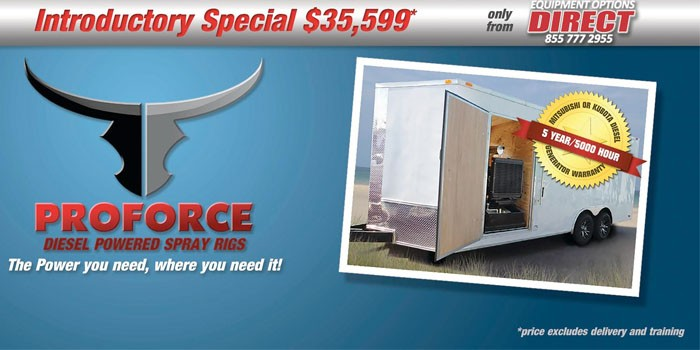 Introducing PROFORCE Diesel-Powered Spray Foam Rigs