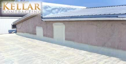 SPF Roofing Application Seals Canadian Roof From Pooling And Leaking Issues