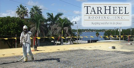 Amazing TarHeel Roofing Rehabs Aging Roof With Spray Foam In Hollywood Beach