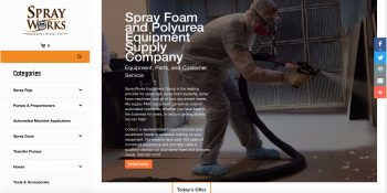 SprayWorks Equipment Company Launches New Store