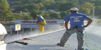 Spray Foam Roof Stops Leaks at a Virginia Dairy Bar and BBQ