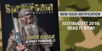July / August 2016 Spray Foam Magazine is NOW Available