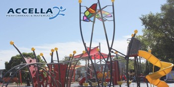 Accella Supports New Community Facilities-Trojan Park Playground and Donates Playground Surface Materials