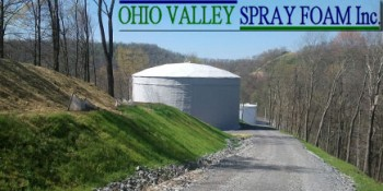 Million-Gallon Water Tank Insulated With Closed-Cell Spray Polyurethane Foam