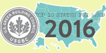 U.S. Green Building Council Releases Annual Top 10 States for LEED Green Building