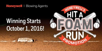 """Honeywell Challenges Spray Polyurethane Foam Insulation Contractors and Builders To """"Hit a Foam Run"""""""
