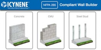 Icynene Launches New Web-Based NFPA285 Compliant Wall Assembly Tool