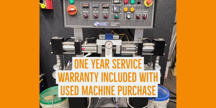 One year service warranty included with used machine purchase