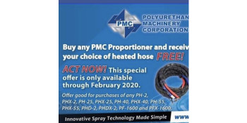 FREE 50' Heated Hose with PMC Machine purchase